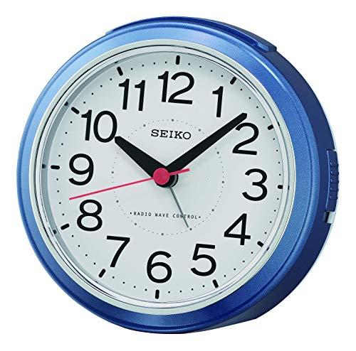 Seiko Funkwecker, Kunststoff, Blau, 11,8 x 10,8 x 6,3 cm