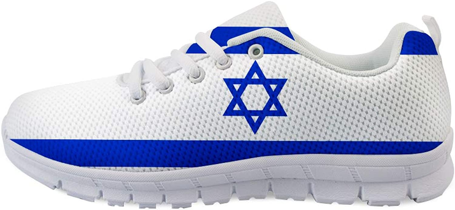 Owaheson Lace-up Sneaker Training shoes Mens Womens Israel Israeli Flag