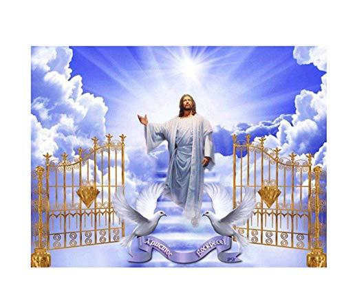Kit de pintura de diamante Diamante redondo completo Punto de cruz Jesús Diamante Mosaico Rhinestone Imagen Bordado Icono religioso en venta 40x50
