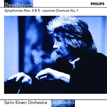 Beethoven: Symphonies Nos.4 & 8 etc