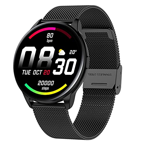 Reloj inteligente para teléfonos Android iOS impermeable Bluetooth Smart Watches, reloj digital para hombre, monitor de actividad física, ritmo cardíaco, oxígeno en sangre, pantalla táctil