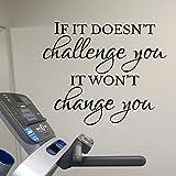 Gym Wandaufkleber werden dich nicht verändern wenn es dich nicht herausfordert. Übungsraum Wand...