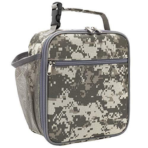 FlowFly Lunch box Insulated Lunch Bag Adult Lunchbox Reusable Cooler Tough & Spacious Tote Bag Designed for Men,Adults,Women,Kids,Digital Camo