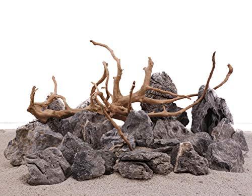 AquaOne Aquarium Natursteine Wurzel Mini Landschaft Moorkienwurzel Set W3 Gr.XL Deko Aquascaping