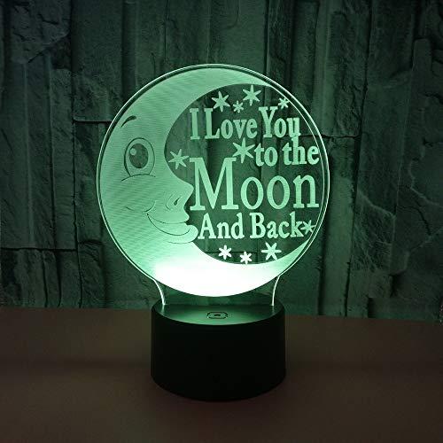 LG Snow lámparas Moon LED Colorido Gradiente 3D Estéreo Lámpara De Mesa Táctil Control Remoto USB Luz De Noche Escritorio Mesita De Noche Decoración Creativa Adornos De Regalo