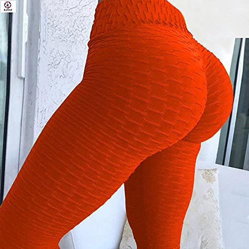 ArcherWlh Leggings Push Up,2021 nuevos Pantalones de Yoga de Cintura Alta Fitness Sexy Leggings-Jacquard Rojo_Metro