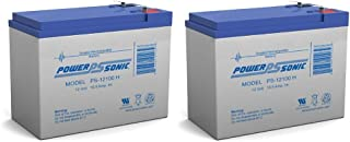 PS-12100H 12V 10.5Ah Sealed Lead Acid Battery - 2 Pack