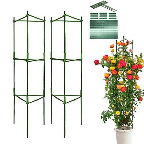 LIBRNTY 2 pcs Soporte para Jaula de Jardín,Varillas de Apoyo para Plantas,Soporte para Plantas...