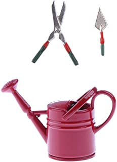 1:12 Scale Garden Set Of A Watering Can Shears /& Trowel Tumdee Dolls House Tools