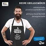 MoonWorks Grill Wars Schürze für Männer mit Spruch schwarz Unisize - 4