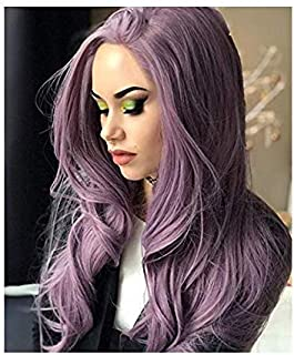 Lace Front Wigs Purple Wigs With Wave Long Synthetic Lace Front Wig For Woman Natural Lilac, Purple, Violet Color Hair Wigs