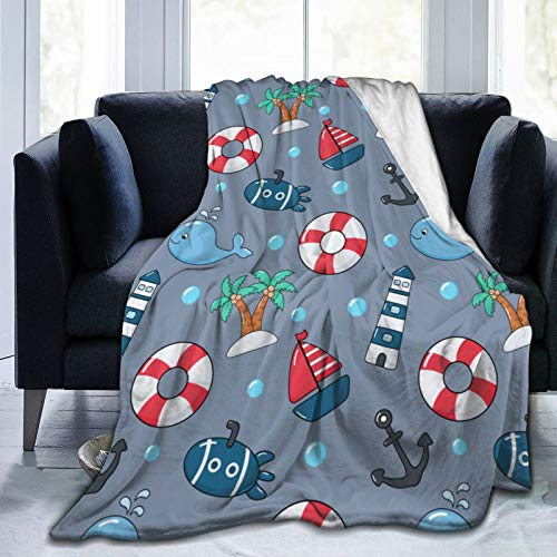Best Light Houses Beach Ocean Kids Adults Luxury Warm Micro Fleece Blanket Sherpa Throw Blankets Lightweight Cozy Air Conditioner Blanket Carpet for Sofa Bed Chair Couch Room