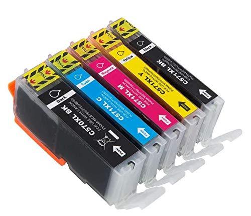 Sumedtec - Cartuchos de Tinta Compatible para Canon PGI-570 CLI-571 (Compatible con Canon Pixma MG5750 TS5050 MG5751 MG5753 MG6850 MG6851 MG6852 TS5051 TS5053 TS5055 TS6050 TS6051)