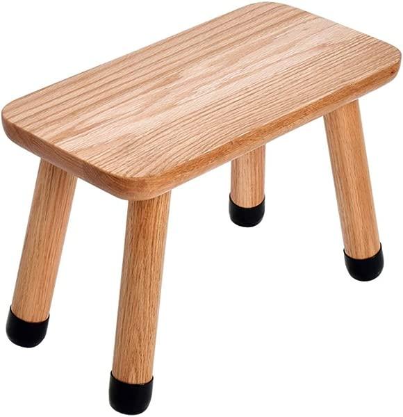 Solid Wood Footstool Oak Children S Stool Dressing Stool Foyer Change Shoe Bench With Wooden 4 Legs Load Bearing 150kg