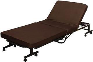 アイリスオーヤマ ベッド 折りたたみベッド 電動ベッド シングル 収納  低反発 リクライニング ブラウン OTB-TD