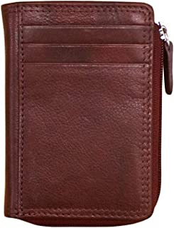 ili New York 7411 Leather Credit Card Holder (Redwood)