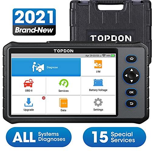 TOPDON diagnosegerät für alle Fahrzeuge ArtiDiag800, Obd2 Scanner deutsch mit AutoVIN, Alle...