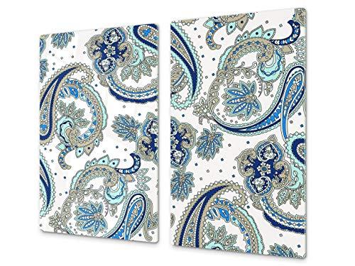 Asse da cucina in VETRO temperato – Tagliere in vetro – pezzo UNICO (60x52 cm) o DUE pezzi (30x52 cm ognuno); D14 Modelli e Mandala: Disegno 87