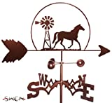 SWEN Products Hand Made Quarter Horse Windmill Garden Stake Weathervane ~New~...