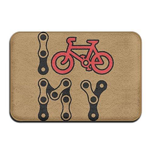 Sunny R Amo Mi Bicicleta Felpudo Decorativo Cocina Baño Alfombra Antideslizante Entrada Suave Alfombra de la Puerta Delantera 15.7×23.5 Pulgadas