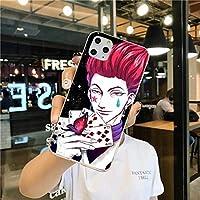 Hunter×h-unter ハンター×ハンター ケース Iphone用,hxh Iphone 11 強化ガラス携帯電話ケース Iphone X-For_7_plus_or_8_plus_a11