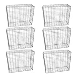 MonsterShop Gabion Baskets Mesh Wire Galvanised Steel Cages Stone Outdoor Basket Spiral Retaining Wall Planter Garden