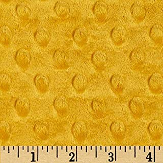 Shannon Fabrics Minky Cuddle Dimple Fabric by The Yard, Gold