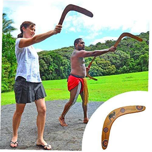 Zonfer Volviendo Boomerang De Madera En Forma De V Boomerang Boomerang Juegos Aire Libre Deportes del Juguete