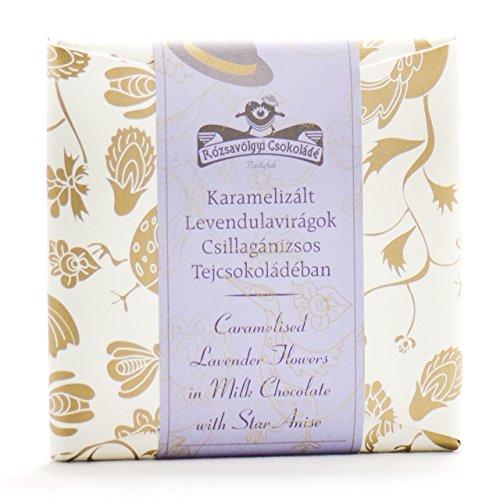 Rozsavolgyi Csokolade Milk Chocolate with Caramelized Lavender Flowers 40%