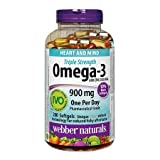 Webber Naturals Omega-3 Triple Strength 900mg, 200 softgels
