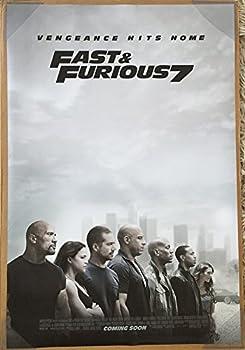 Furious 7 Movie Poster 2 Sided Original INTL Final 27x40 VIN Diesel Paul Walker