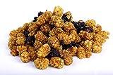 Bio Maulbeeren 1000g weiße und schwarze Mischung süß-säuerlicher Geschmack roh ungesüsst Rohkost sonnengetrocknet 1 kg