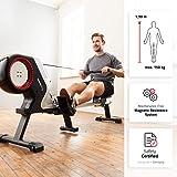 SportPlus Rudergerät für zuhause, klappbar, Rudermaschine mit Magnet- oder Turbinenbremssystem, kugelgelagerter Rudersitz, brustgurtkompatibel, Trainingscomputer, Rowing Machine, Sicherheit geprüft - 2