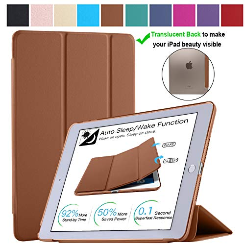 Price comparison product image DuraSafe Cases for iPad PRO 10.5 Inch 2017 / Air 3 (3rd Gen) 10.5 Inch 2019 [ A1701 A1709 A2152 A2123 A2153 A2154 ] Smart Cover Brown (UltraSlim)