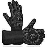 Homemaxs BBQ Gloves 1472℉ Extreme Heat Resistant Grill Gloves, Food Grade Kitchen Oven Mitts, Silicone Non-Slip...