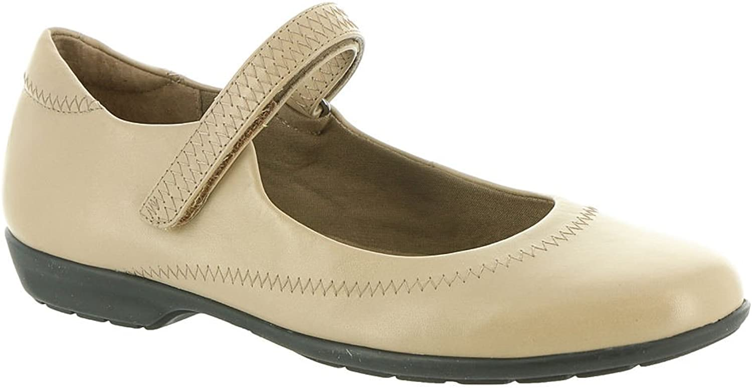 Walking Cradles Womens Jane Leather Leather Closed Toe Mary, Taupe, Size 6.5