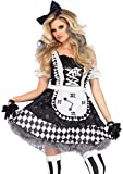 Leg Avenue Women's Costume, Black/White, Medium
