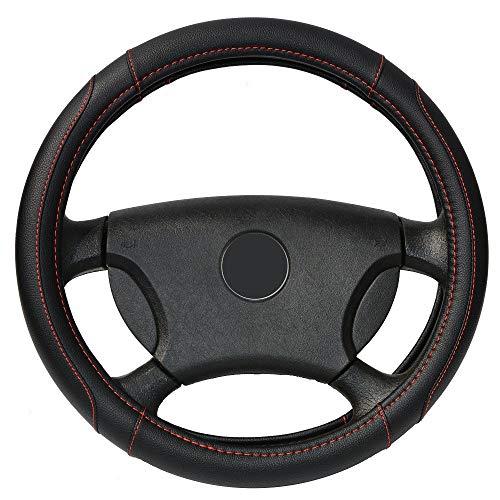 Voiture volant couvrir Micro fibre cuir M taille pour Kia ford vw peugeot lada skoda etc.. Roue extérieure de 37-38,5 cm Diam noir