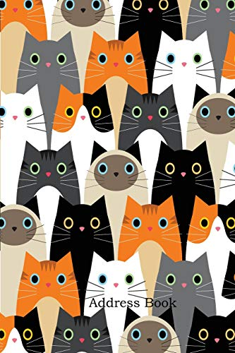 Address Book: Alphabetical Index With Pattern with cute cats idea cover