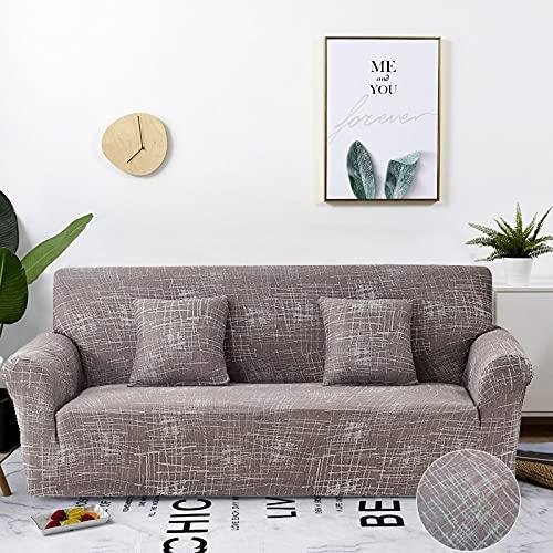 WXQY Sala de Estar geométrica combinación de Funda de sofá elástica en Forma de L sofá de Esquina Funda Protectora Antideslizante Funda de sofá elástica A27 2 plazas