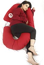 3G Belly Love Premium Pregnancy Pillow - C Shaped Pillow with Storage Pocket/Body Pillow/Lumbar Pillow/Maternity Pillow wi...