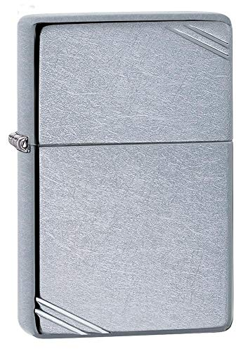 Zippo Vintage with Slashes Street Chrome Pocket Lighter