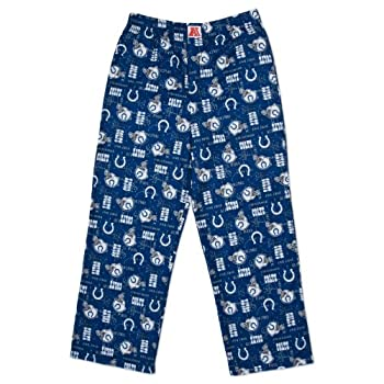 NFL Indianapolis Colt Youth Pajama Pants Blue/White 10/12
