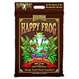 FoxFarm FX14054 Happy Frog Nutrient Rich and pH Adjusted Rapid Growth Garden Potting Soil Mix is Ready to Use, 12 Quart