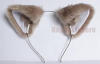 Happylifehere Long Fur Cat Ears Fox Ears Headband Soft Fluffy Movable Ears Hair Band Cosplay Costume Halloween