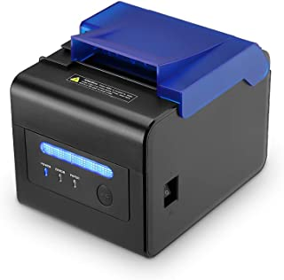 MUNBYN Kitchen Printer, 80MM Thermal POS Receipt Printer with Sound Beeping Alarm and Auto Cutter, USB RS232 Serial LAN Port, Waterproof Oilproof Support ESC/POS