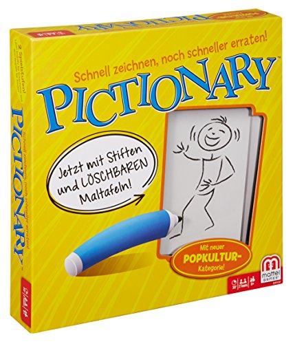 Mattel Games DRY37 Pictionary Zeichenspiel, lustiges Familienspiel geeignet für 2 - 4 Spieler, Spieldauer ca. 30 - 45 Minuten, ab 8 Jahren