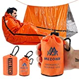 Mezonn Emergency Sleeping Bag & Tent Shelter Survival Bivy Sack Use as Emergency Blanket Lightweight Survival Gear for Outdoor Hiking Camping Keep Warm After Earthquakes, Hurricanes and Other disaster