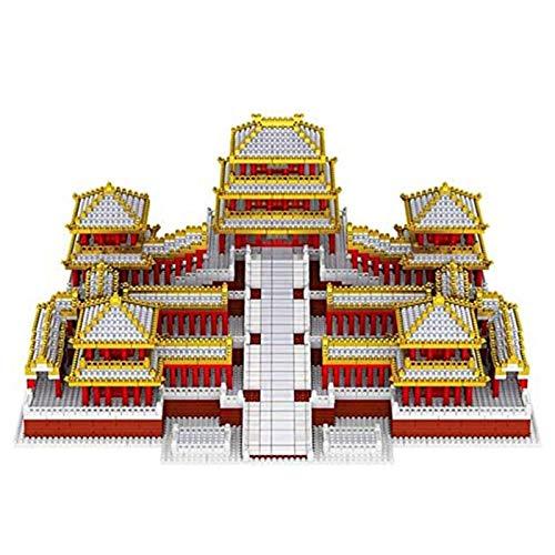 Massage-AED Minibaustein 3D-Puzzle,Micro Mini Blocks Altes Chinesisches Architekturmodell Afang Palace Building Model Set Geschenke Für Kinder- Und Erwachsenenarchitekturgeschenke