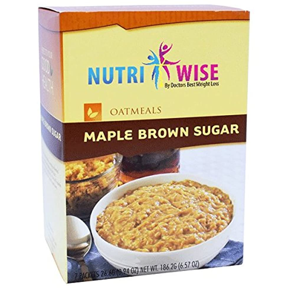 HealthWise Oatmeal Maple Brown Sugar, (7 packets of 0.934 oz., net 6.54 oz.) by HealthWise